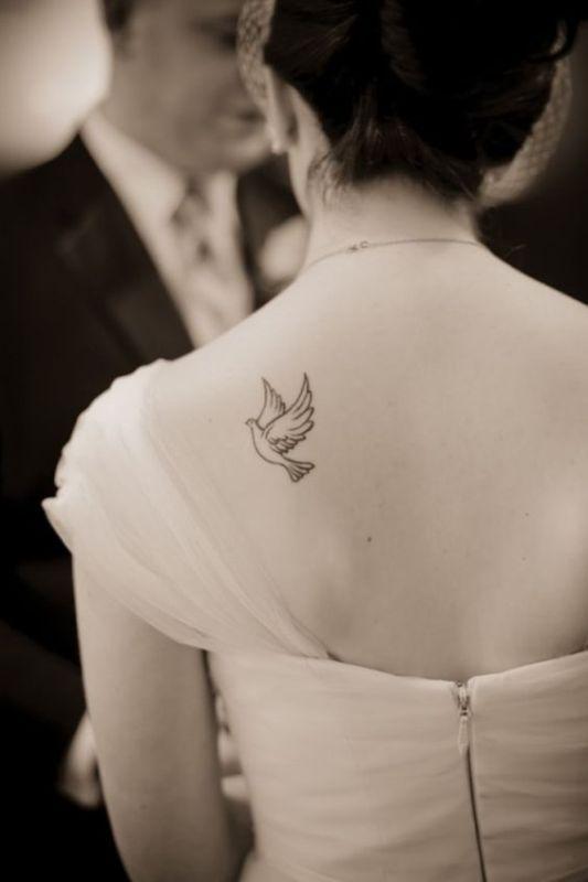 Small Dove Tattoo