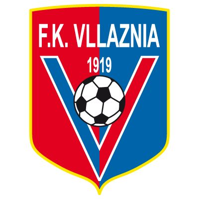 FK VLLAZNIA (from the city of Shkodër) officially named KF meaning Klubi i Futbollit - logo with K.F. i.s.o. FK exists - not (yet) on this board