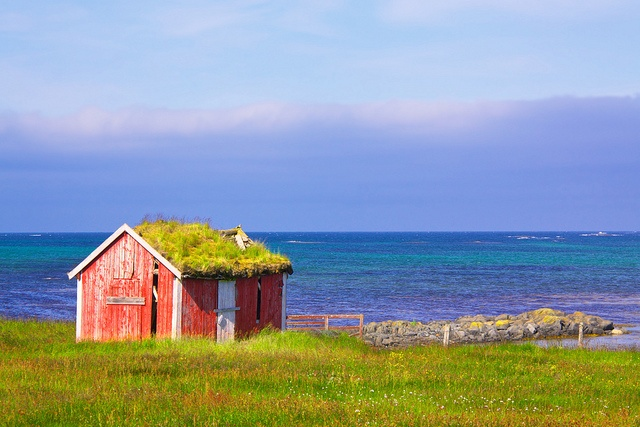 Andoya, Norway   •   Detoriated traditional shed by the sea on island Andoya, Norway