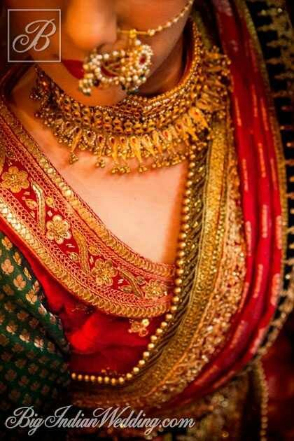 Blouse, Dupatta, and Jewelry Detail