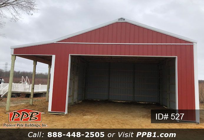 Do You Need A Building With A Lean To 24 W X 28 L X 12 4 H Id 527 24 Standard Trusses 4 On Center 1 Residential Garage Doors Pole Buildings Lean To
