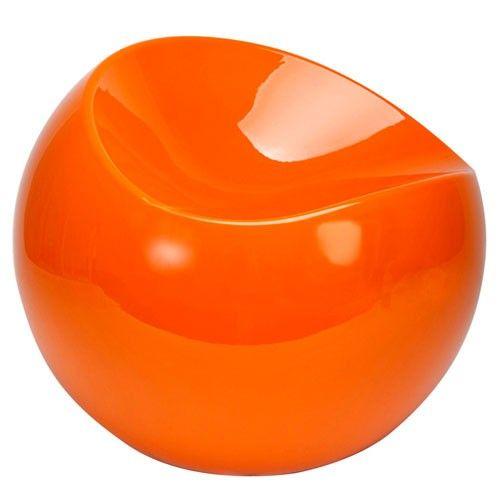 Ball Chair Pouf Design XL Boom Orange