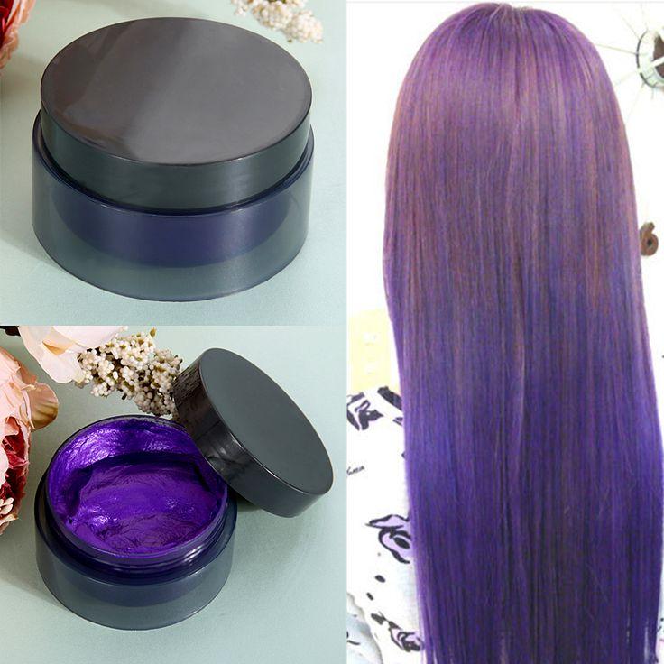 100 ML Monouso Colore Dei Capelli Cera Colorante Modanatura di Una volta Incolla Tinture Per Capelli cera Hair Styling Crema 5 Color Rosso Blu Giallo Viola Grigio