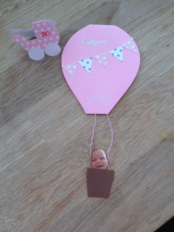 "Invitation til barnedåb ""luftballon"""