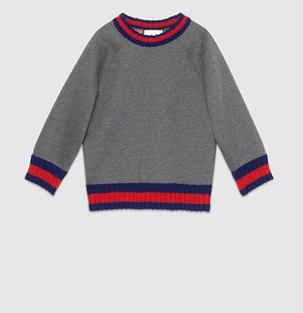 Gucci - sweatshirt brodé en jersey de viscose 410488X57621583