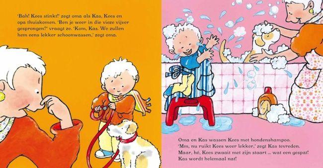 Kas bij opa en oma - Pauline Oud Illustraties - Clavis Uitgeverij