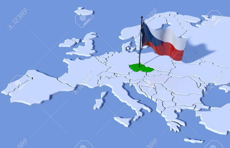Poloha České republiky na mapě Evropy
