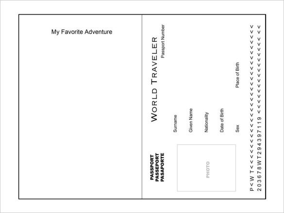 Monster image throughout printable passport template