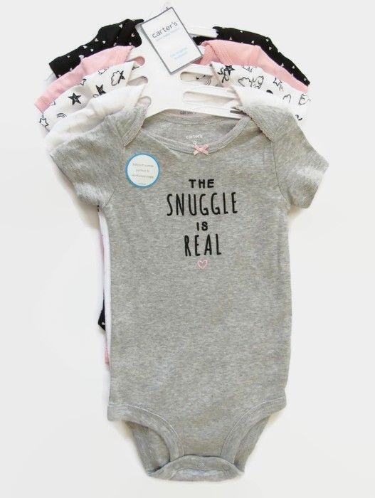 4929be738 Carter's 5 Pack Bodysuits Girls Little Baby Basics One-Pieces Size 9 mos  New #Carters #Everyday #BitsyBeeStitches