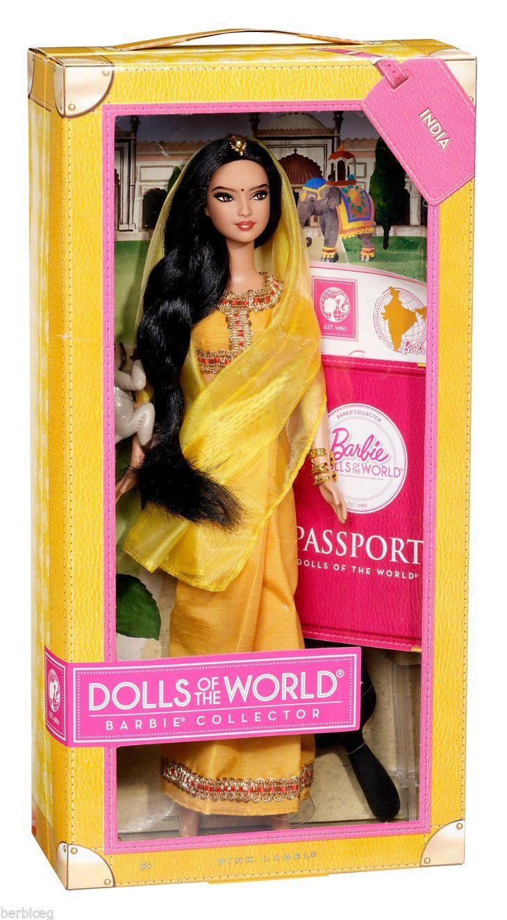 Barbie collector dolls of the world india doll new nrfb 746775046781 ebay