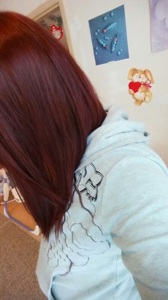 Light burgundy brown hair