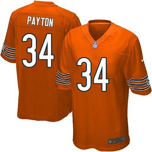 79.99 mens nike chicago bears 34 walter payton game alternate orange jersey