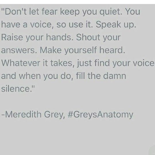 Fill the silence Greys Anatomy Quote  Greys Anatomy  Pinterest  Grey ...