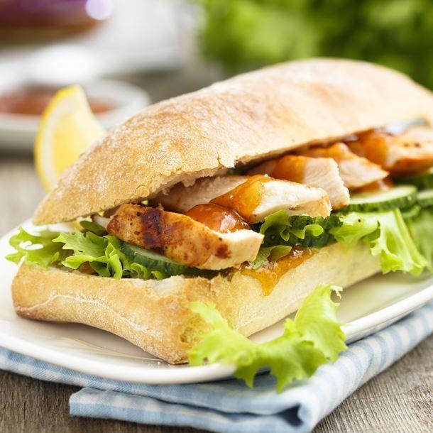 Sandwich sucré-salé au porc