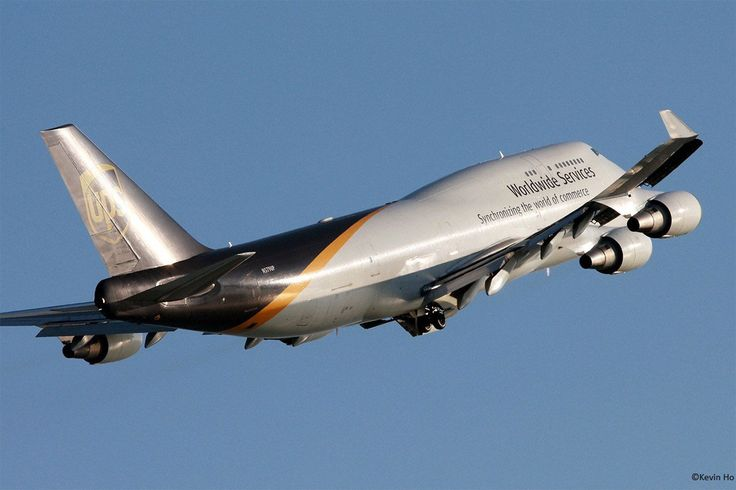 UPS (United Parcel Service) Boeing 747-45E in flight