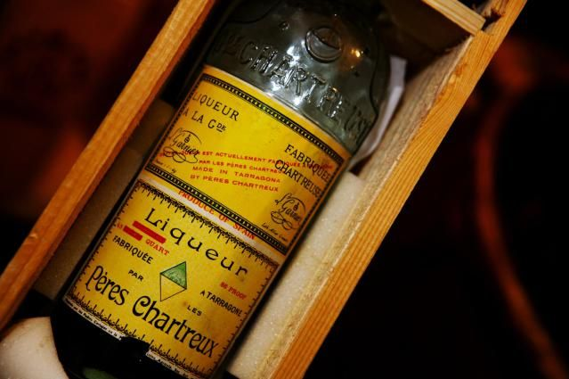 Produced by Monks, Chartreuse Liqueur is Something Special: Vienne, Rhone-Alpes, France, Europe