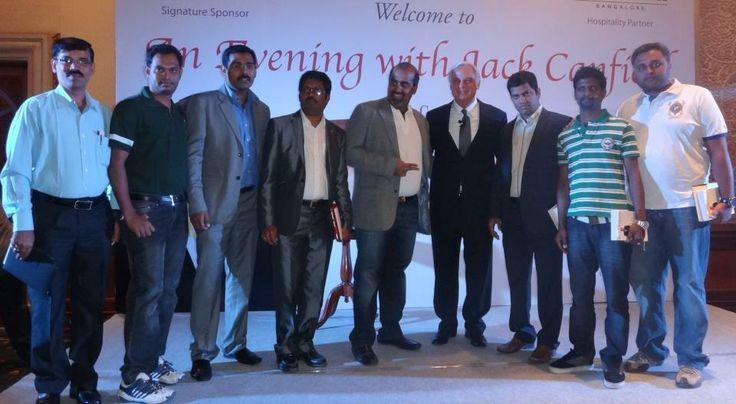 Subhakar Rao Surapaneni with motivational speaker Jack Canfield