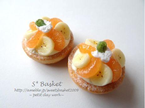 レーズンサンド&みかんとバナナのタルト♪|SWEETS BASKET (S*Basket)