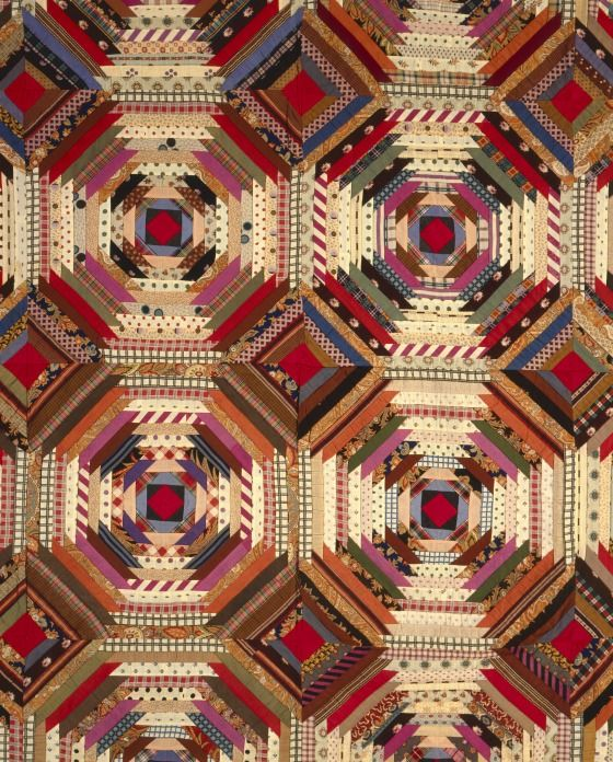 Quilt, 'Log Cabin' Pattern, 'Pineapple' variation | LACMA Collections