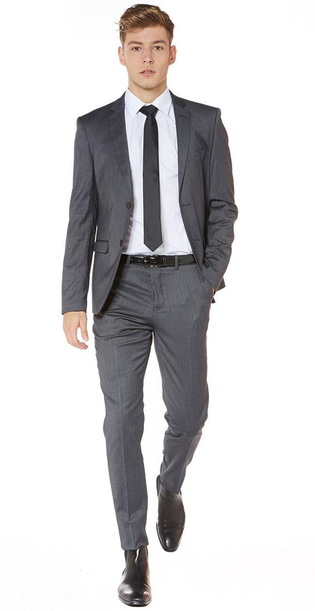 Stockton Street Stretch Suit Jacket - Charcoal - Hallensteins Tailored Menswear