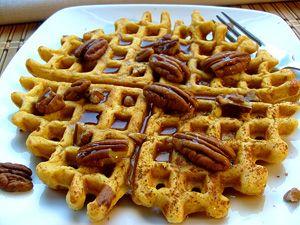 Spiced Pumpkin Waffles: Spiced Pumpkin Waffles, Sweets, Crepes Waffles ...