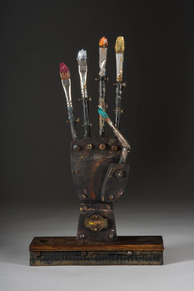 "David Barnett ""Finger Paint"" mixed media 11"" x 6"" x 14"" .37"