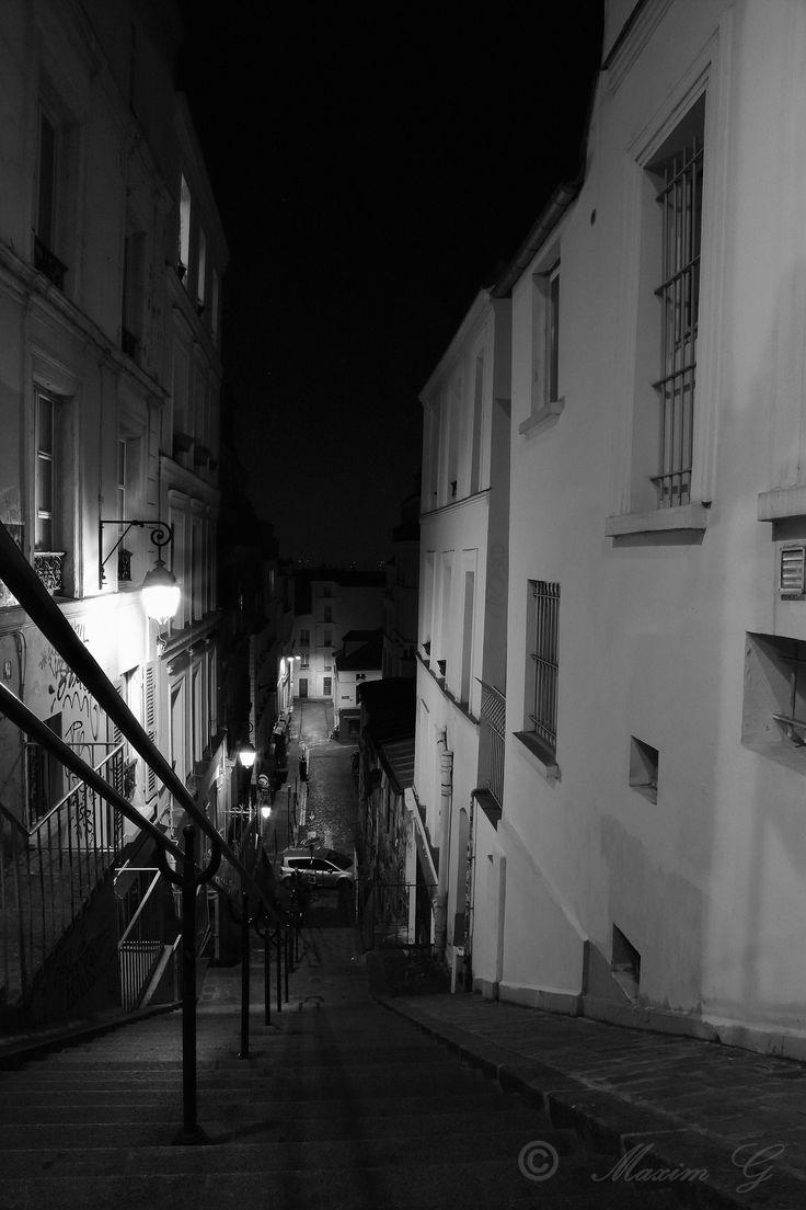 Paris, streetphotography, nightphotography, montmartre