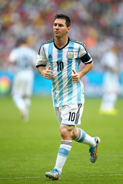 Lionel Messi of Argentina looks on during the 2014 FIFA World Cup Brazil Group F match between Nigeria and Argentina at Estadio Beira-Rio on...