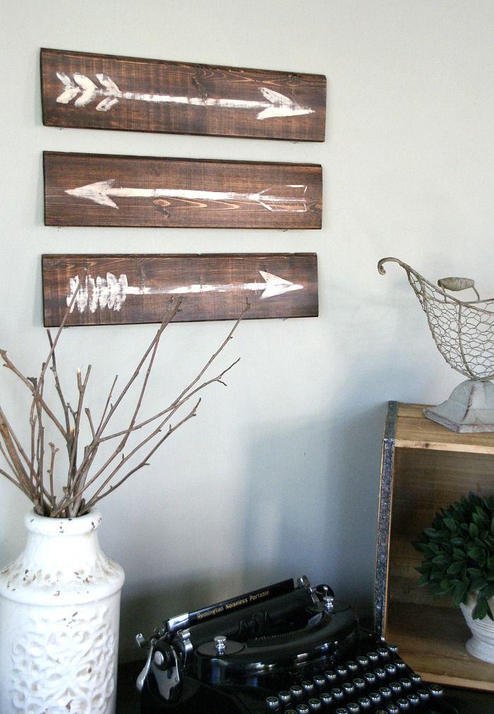 Easy DIY Rustic Painted Arrows. Create your own rustic wall art .