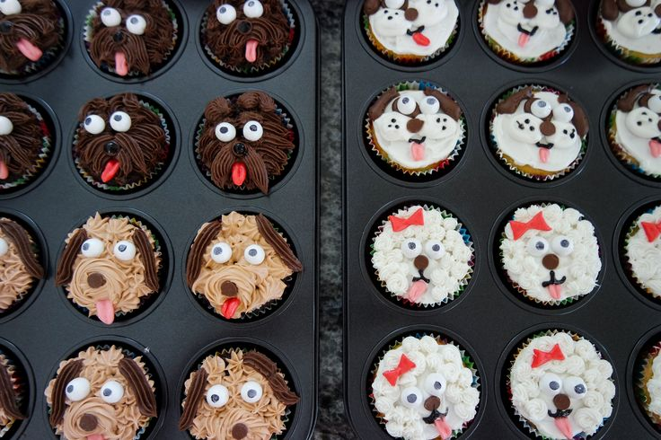 Pup Cakes! Puppy themed party