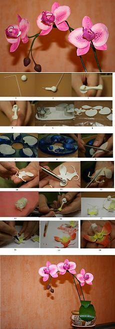 Orhideele de la un porțelan rece | Lectii de modelare