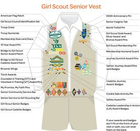 Where to Place Insignia for Girl Scout Seniors