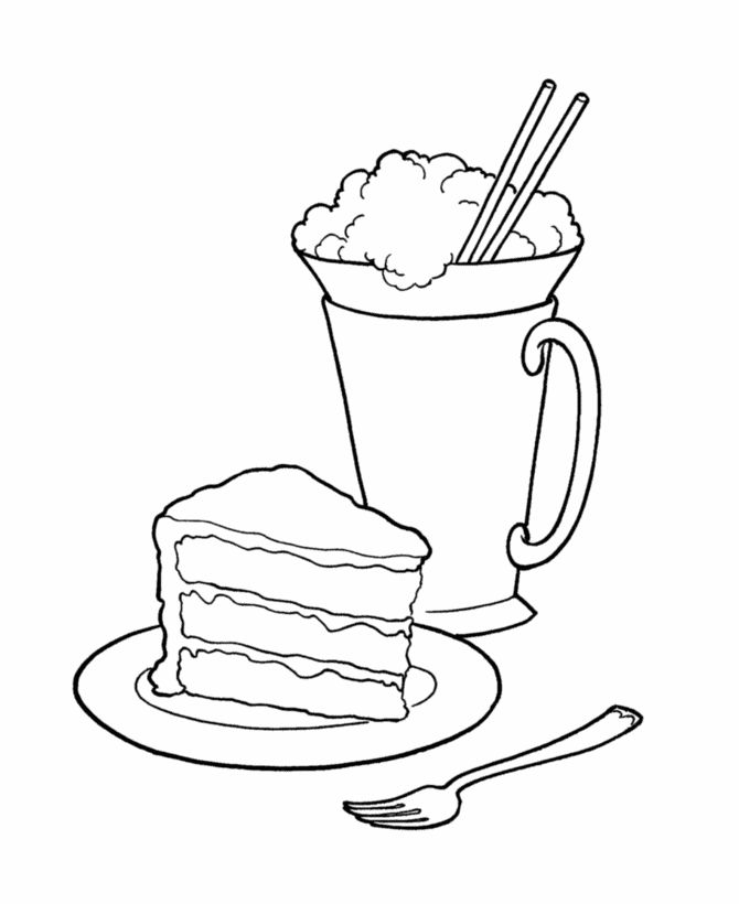 Dessert Coloring Pages | Ice cream coloring pages ...