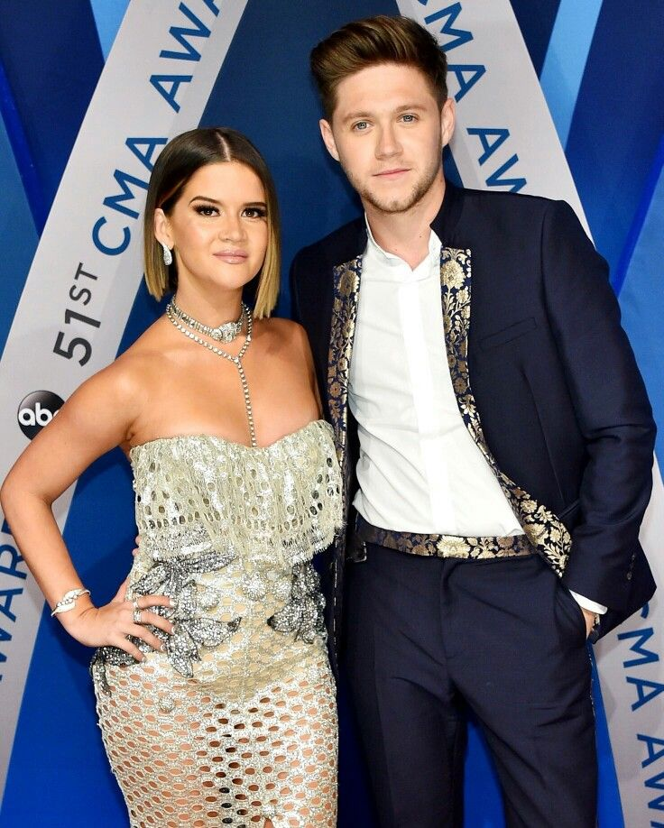 Niall with Maren Morris at the 2017 51st CMA Awards