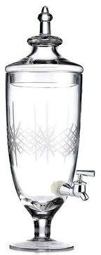 Godinger Serveware, Jamestown Beverage Dispenser - traditional - serveware -
