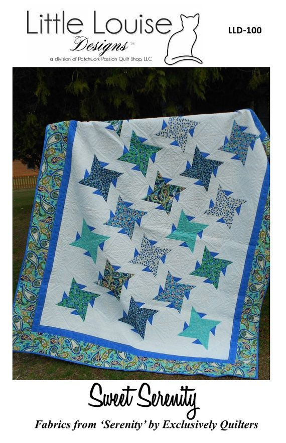 Quilt Pattern   Sweet Serenity Quilt Pattern by LittleLouiseQuilts