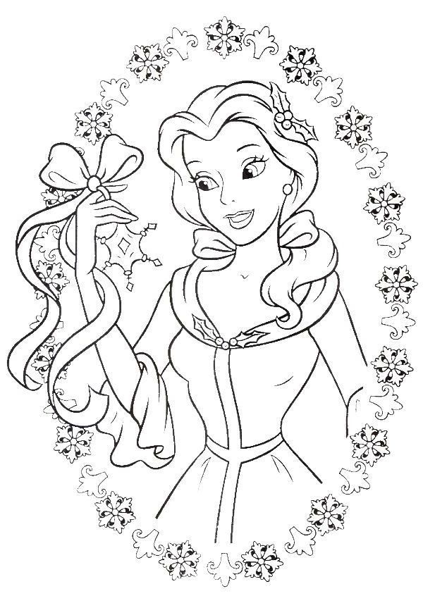 Princess Coloring Pages Winter Kids Templates