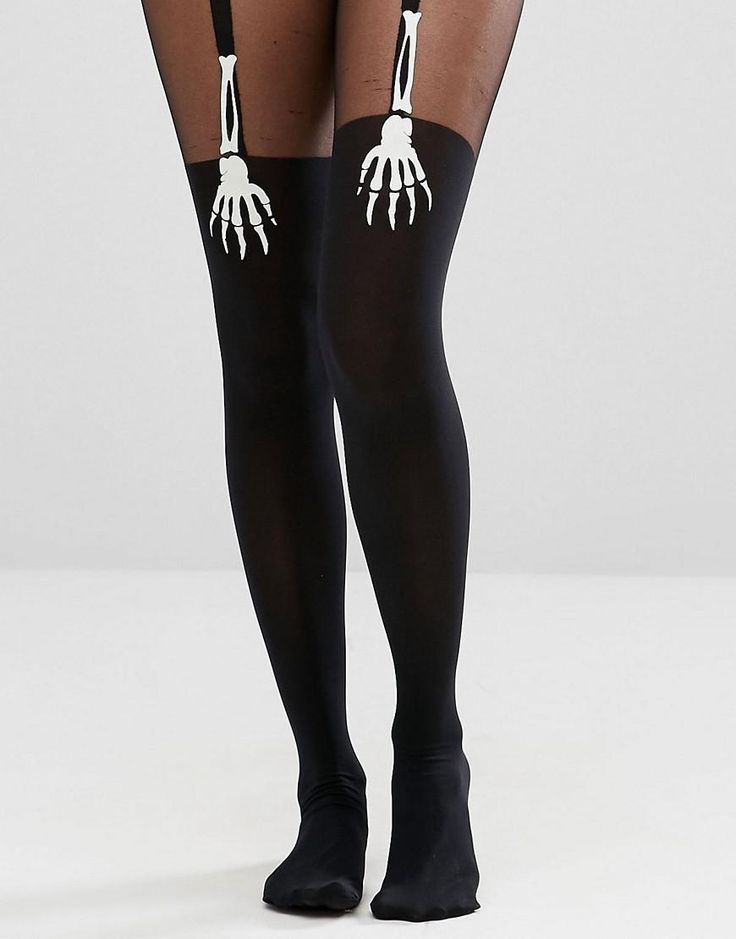 ASOS | ASOS Halloween Glow In the Dark Skeleton Hand Suspender Tights at ASOS