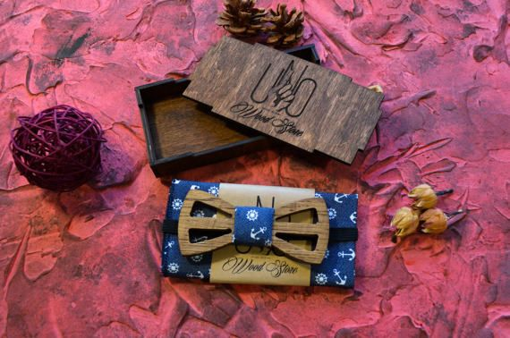 anchor bow tie / own bow tie / mrs bow tie / ties by UNOWoodStore