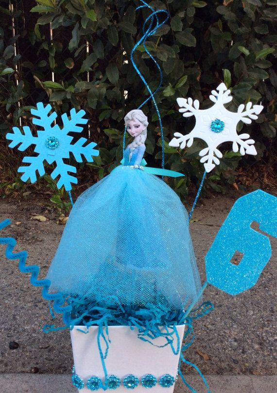 Centerpieces Birthday Tables Ideas centerpiece ideas Disney Frozen Elsa Birthday Centerpiece