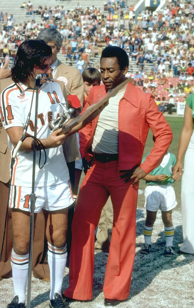Pele and George Best. | George best, North american soccer league ...
