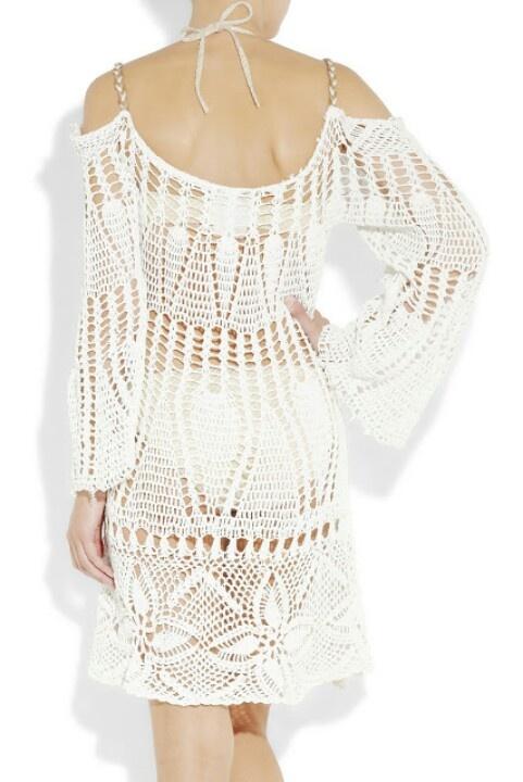 Vestido de ganchillo blanco ibicenco.
