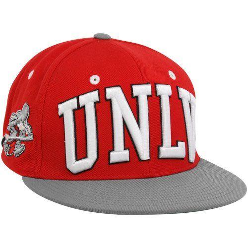 Zephyr UNLV Rebels Scarlet-Gray Superstar Snapback Hat