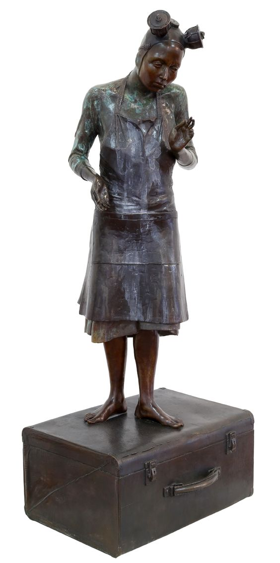 "An original sculpture by Elizabeth Balcomb entitled ""Submit."" bronze. h 117cm. ed of 15. For more please visit www.finearts.co.za #sculpture #southafricanart #southafricanartist #ElizabethBalcomb #bronze #art"