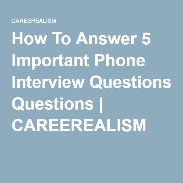 how to answer a job interview phone call