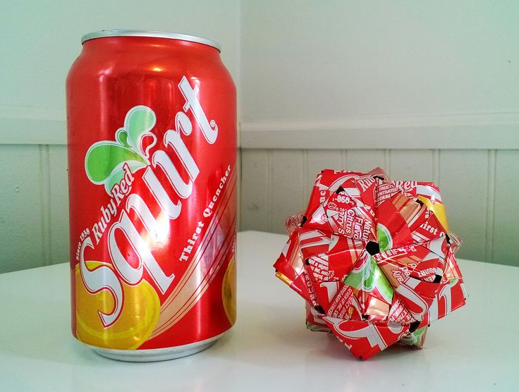 Excellent idea Ruby red squirt soda above