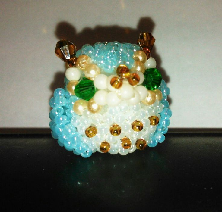 #owl #beads #bicone #3D