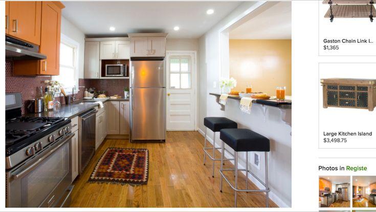Wall cutout kitchen ideas pinterest for 2 wall kitchen designs
