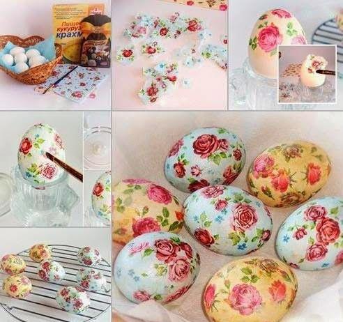 de.stijl.de.l.arte___obsession for creations: DΕCOUPAGE σε Πασχαλινά αυγά χωρίς κόλλα