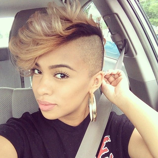 Remarkable 1000 Ideas About Mohawk Hairstyles For Women On Pinterest Short Hairstyles For Black Women Fulllsitofus